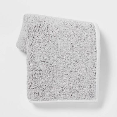 Tipped Sherpa Throw Blanket - Threshold™