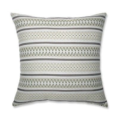 Zig Zag Oversize Square Throw Pillow Green - Pillow Perfect