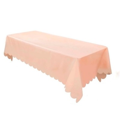 Pink Non Woven Rectangular Table Cover With Scalloped Edges - Spritz™