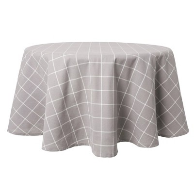"70"" Cotton Round Window Pane Tablecloth - Town & Country Living"