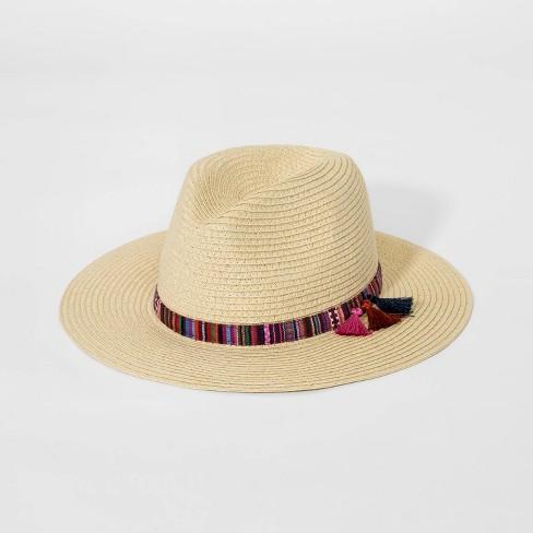 f716b8352ab97 Girls  Tassel Panama Hat - Art Class™ Natural One Size   Target