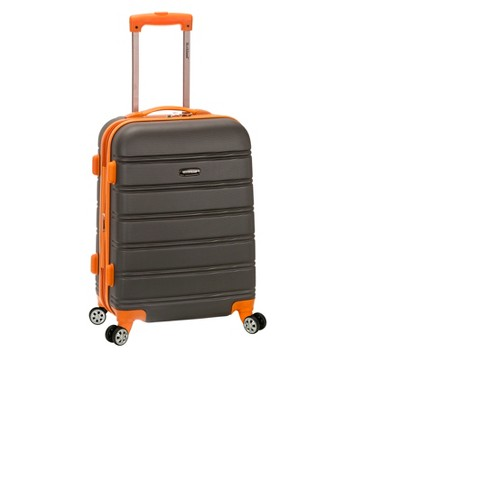 """Rockland Melbourne Expandable ABS Suitcase - Charcoal (20"""") - image 1 of 2"""