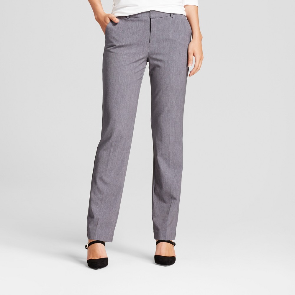 Women's Straight Leg Bi-Stretch Twill Pants - A New Day Gray 4S, Size: 4 Short
