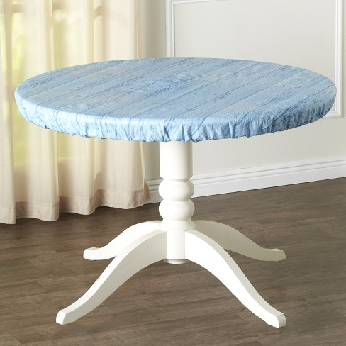 Lakeside Custom Fit Elastic Round Table, Round Table Cover With Elastic