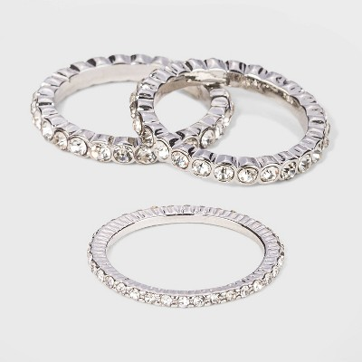 Crystal Rhodium Ring Set - A New Day™