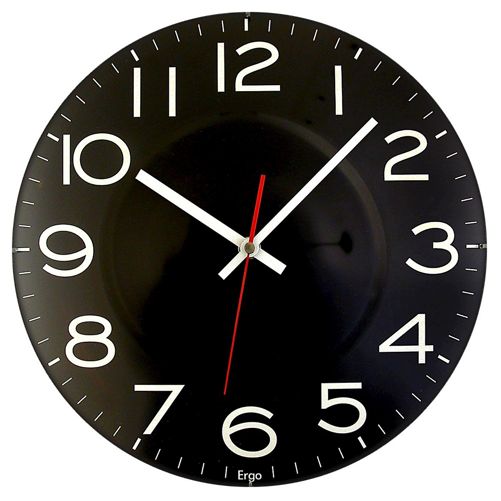 "Image of ""Contact Lens 11.5"""" Wall Clock Black - TimeKeeper"""