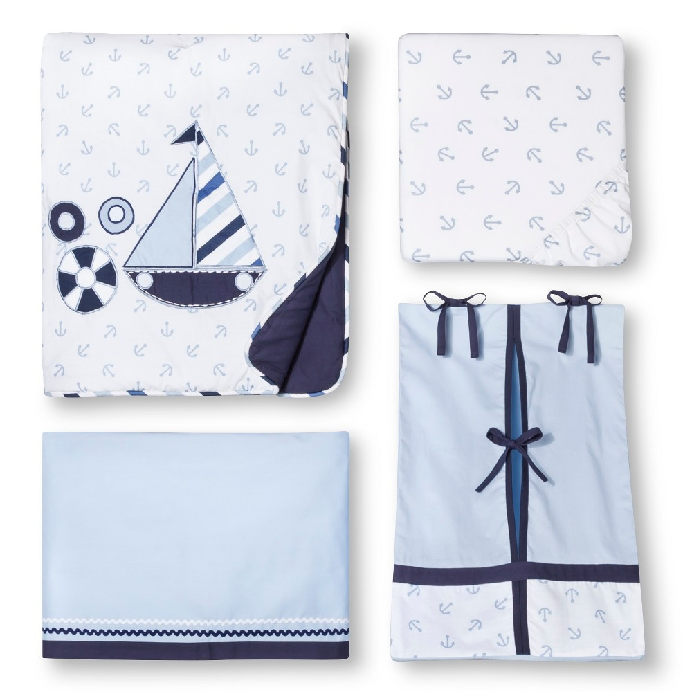 Image of Bacati Crib Bedding Set - 10pc - Little Sailor