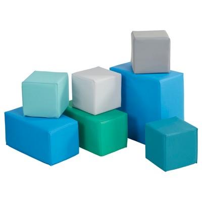 ECR4Kids Softzone Foam Big Building Blocks, Soft Play for Kids, Set of 7