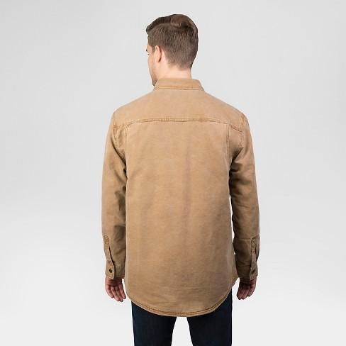 48b838af2 Walls Vintage Men's Tall Duck Shirt Jacket - Washed Pecan XLT