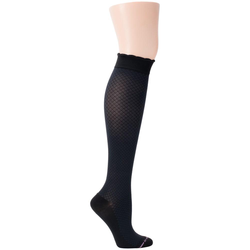 Dr. Motion Women's Mild Compression Knee High Socks - Black 4-10