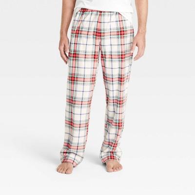 Men's Holiday Plaid Matching Family Pajama Pants - Wondershop™ White