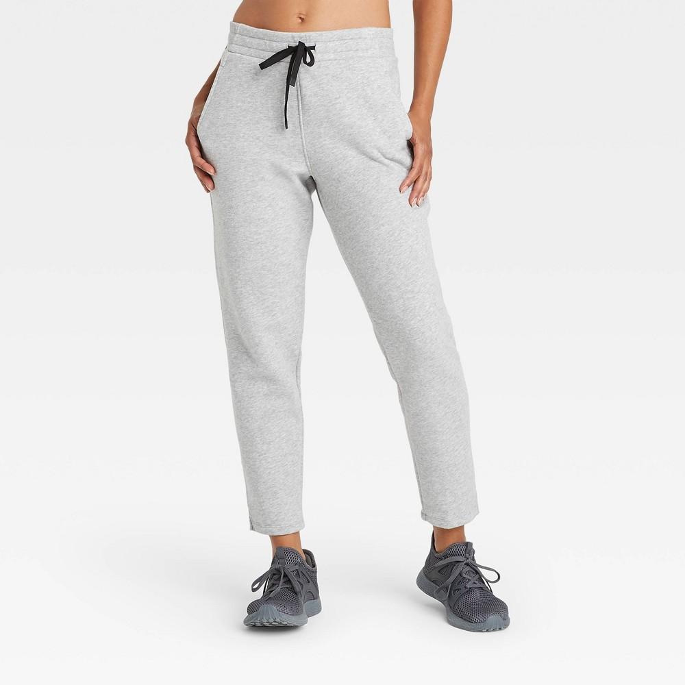 Women 39 S Cotton Fleece Pants All In Motion 8482 Heather Gray Xl