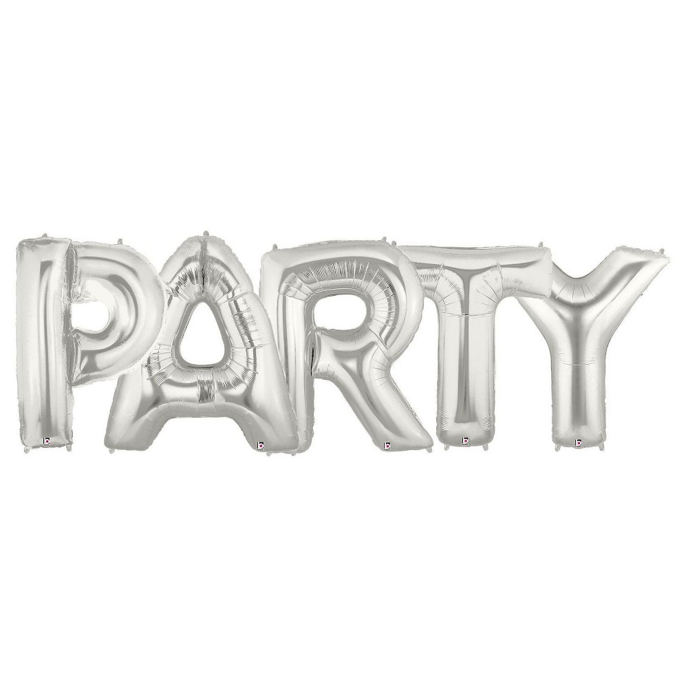 Jumbo Silver Foil Balloons - Party