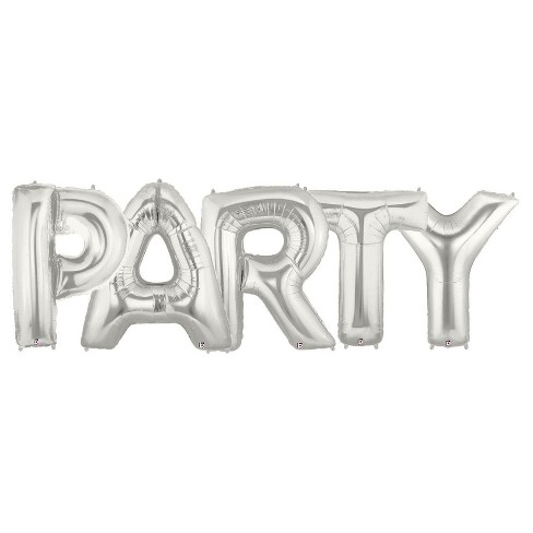 Jumbo Silver Foil Balloons - Party - image 1 of 1