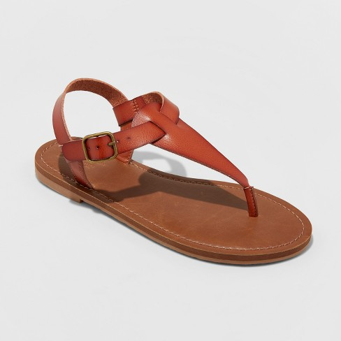 e9021c985a34 Women s Lady Toe Thong Sandal - Universal Thread™ Cognac 8.5   Target