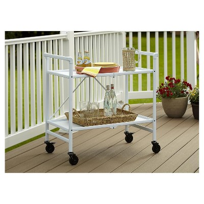 Cosco Indoor - Outdoor Folding Serving Cart - White