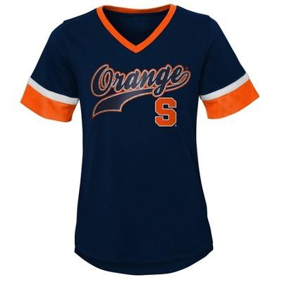 NCAA Syracuse Orange Girls' Short Sleeve V-Neck T-Shirt