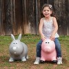 Farm Hoppers Inflatable Bouncing Grey Rabbit - image 2 of 3