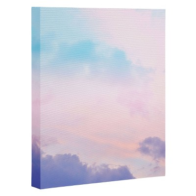 "8"" x 10"" Anita's and Bella's Artwork Unicorn Pastel Clouds 5 Wall Canvas - Deny Designs"