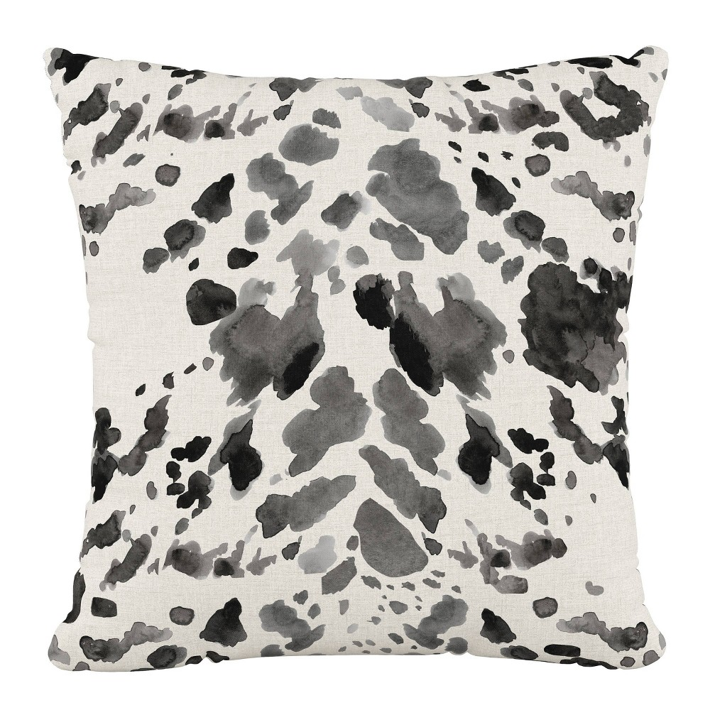 """Image of """"18""""""""x18"""""""" Polyester Pillow in Cow Gray - Cloth & Company"""""""