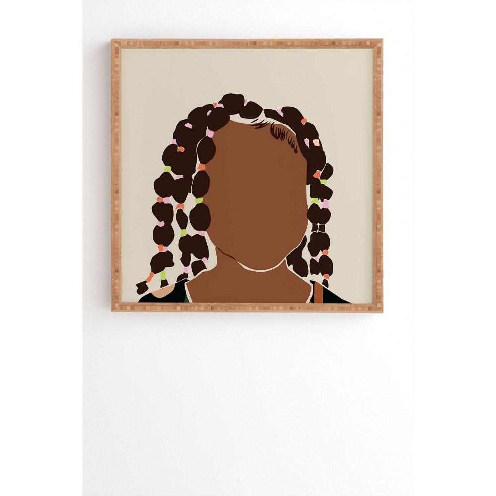 20 34 X 20 34 Domonique Brown Black Girl Magic No 1 Framed Wall Art Bamboo Deny Designs