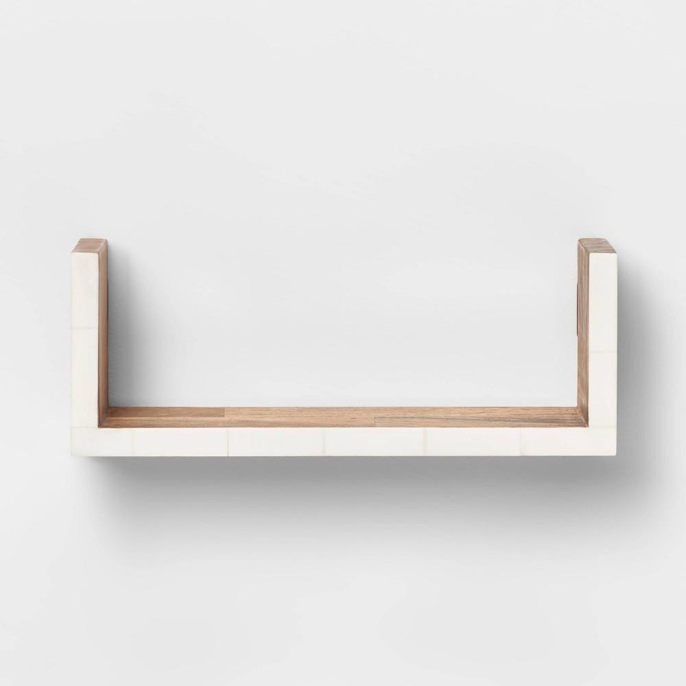 "Image of ""12"""" x 4"""" Wall Shelf with Resin Inlay Natural/Ivory - Opalhouse , Size: 12"""" x 4"""", White"""