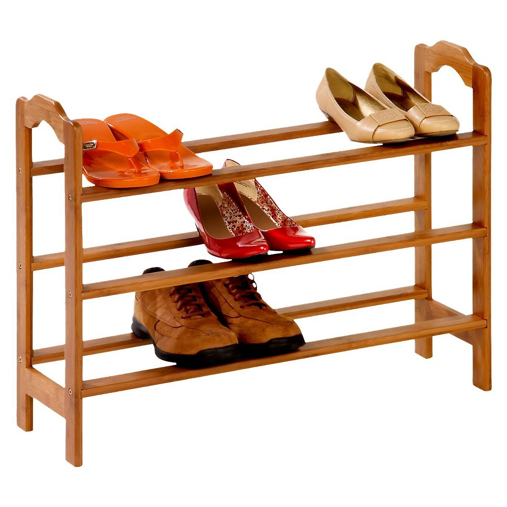 Honey-Can-Do 3 Tier Bamboo Shoe Rack, Utility Storage Racks