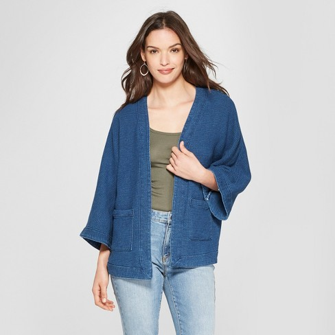 17e99890a Women's Denim Kimono - Universal Thread™ Medium Wash : Target