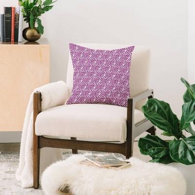"16""x16"" Sunshine Canteen Dahlia Floral Pattern Throw Pillow Purple - Society6 : Target"
