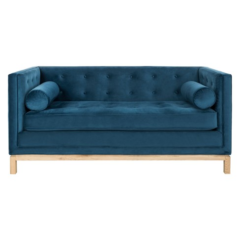 Elaina Tufted Sofa With Arm Pillows Safavieh