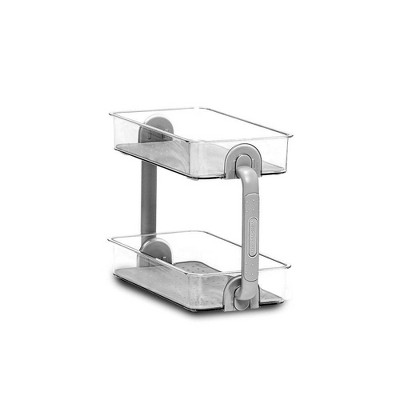 2 Tier Bathroom Tray Organizer - Madesmart