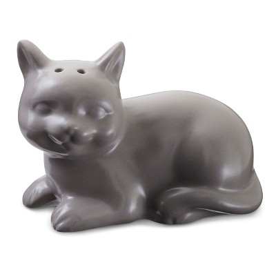 Cat Salt Shaker Stoneware Matte Gray - Threshold™