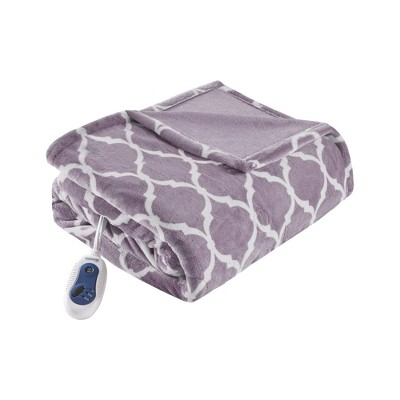 """Electric Ogee Printed Oversized Throw 60x70"""" Lavender - Beautyrest"""