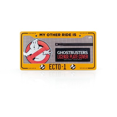 Just Funky Ghostbusters ECTO-1 License Plate Frame For Cars   Ghostbusters Collectible