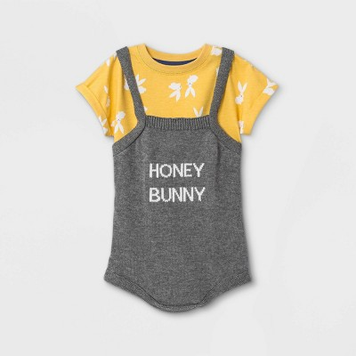Baby Honey Bunny Sweater Top & Bottom Set - Cat & Jack™ Yellow