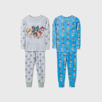 Toddler Boys' 4pc PAW Patrol Pajama Set - Gray 5T