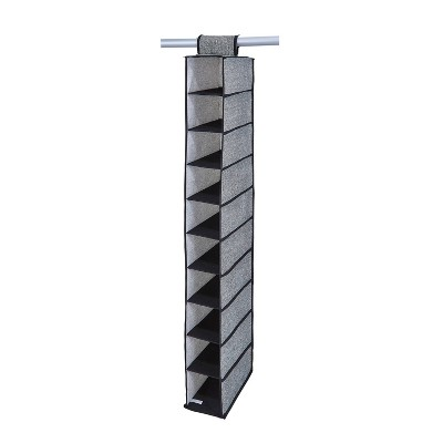 Simplify 10 Shelf Shoe Organizer Black