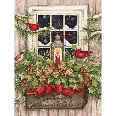 18ct Window Box Snow Holiday Boxed Cards