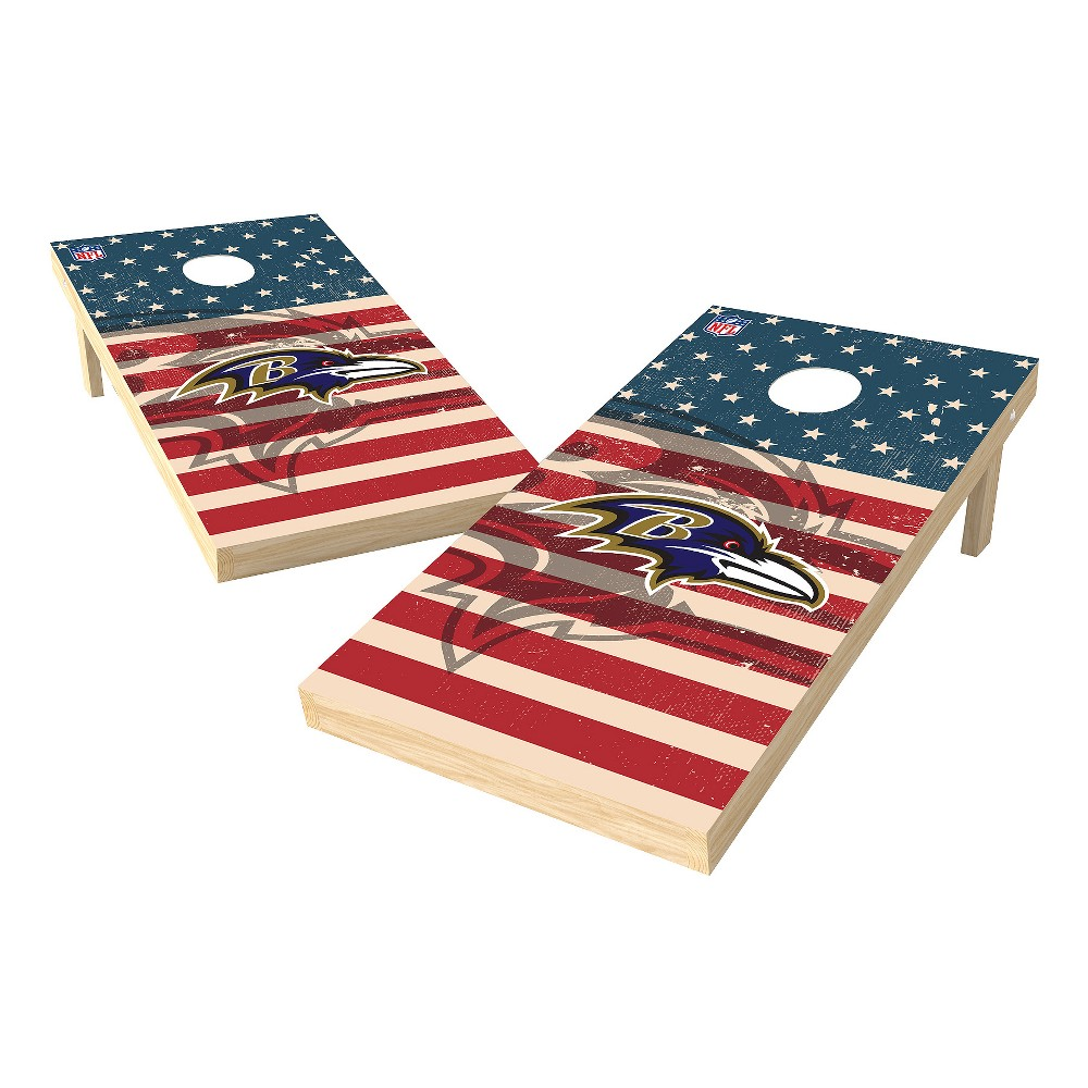 NFL Baltimore Ravens Wild Sports 2x4 Tailgate Toss Cornhole Shield - Stars and Stripes