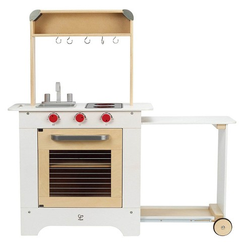Hape Cook 'N Serve Kids Contemporary Design Pretend Play Wooden Cooking Kitchen - image 1 of 4