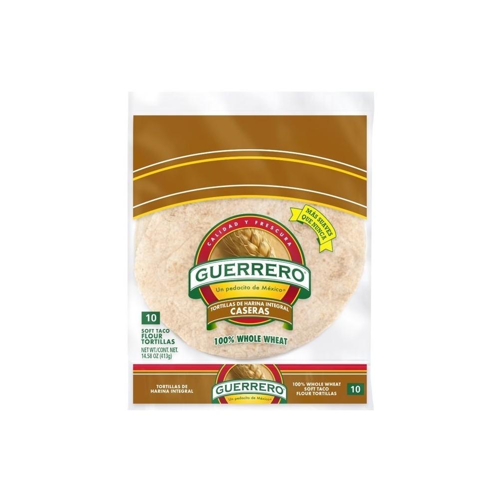 Guerrero Caseras 8-inch Whole Wheat Flour Tortillas - 14.58oz