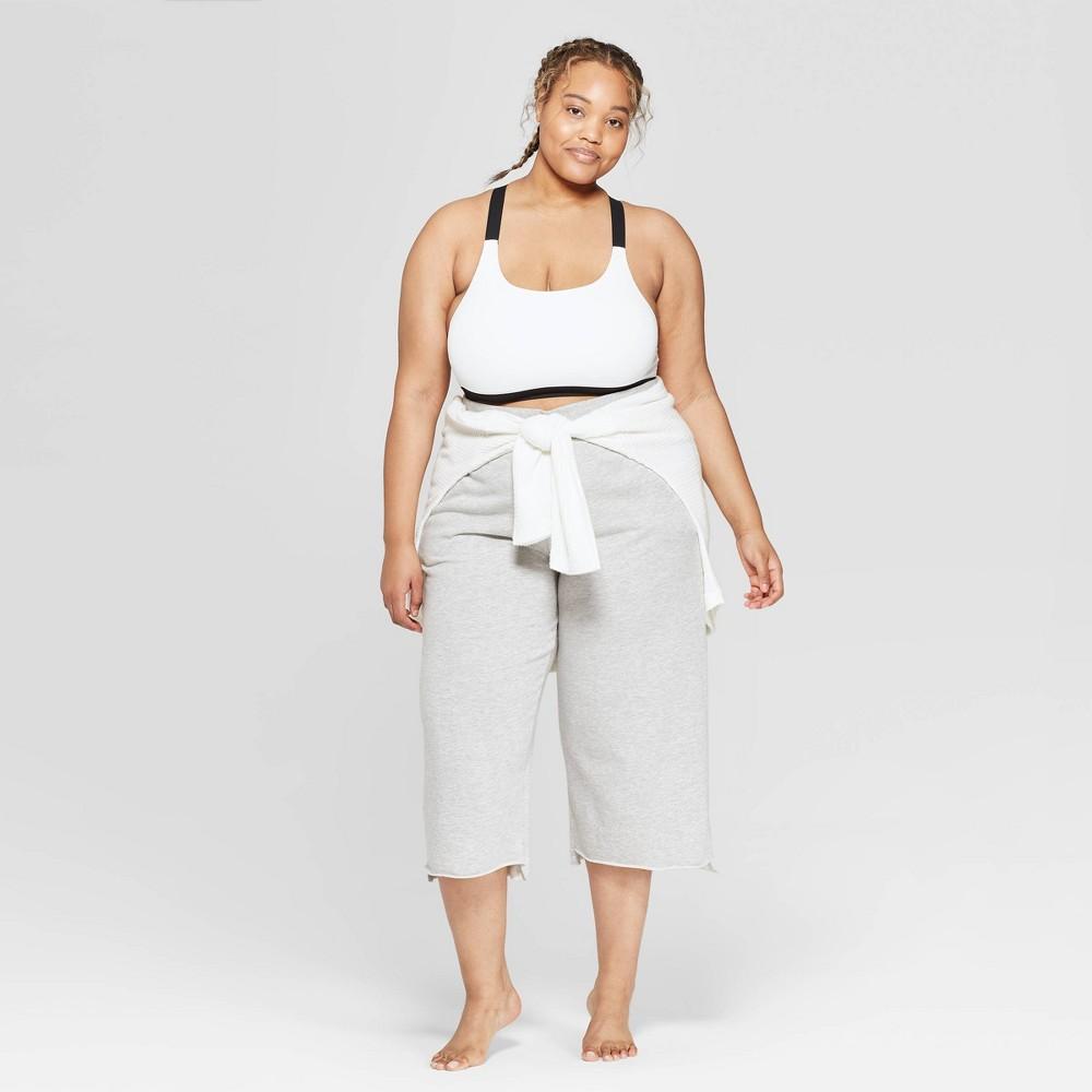 fa322452928b Womens Plus Size Seamless Bralette with Wide Straps Colsie Fresh White 2X