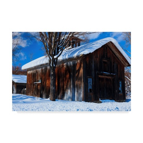 "Anthony Paladino Old Rustic Snow Covered Barn Unframed Wall 16""x24"" - Trademark Fine Art - image 1 of 3"