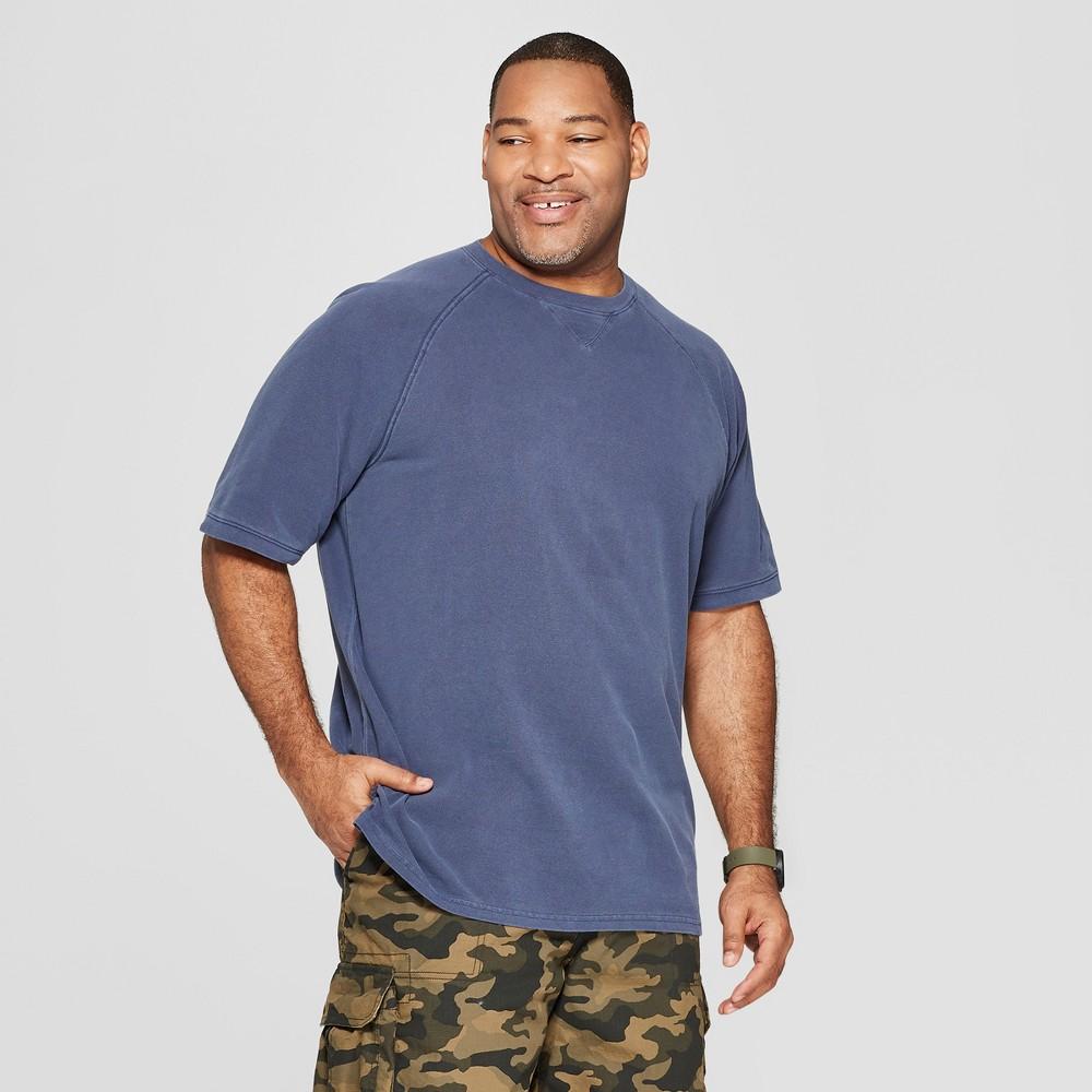 Men's Tall Standard Fit Short Sleeve Pique Shirt - Goodfellow & Co Xavier Navy LT