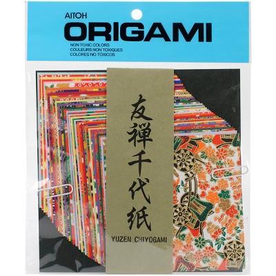 "Origami Paper 4""X4"" 40/Pkg-Yuzen Washi Chiyogami"