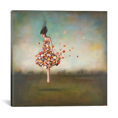 18 x18  Boundlessness in Bloom by Duy Huynh Unframed Wall Canvas Print Blue - iCanvas