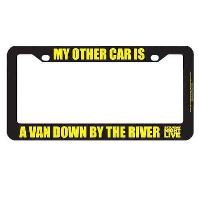 Bif Bang Pow Bif Bang Pow! Saturday Night Live My Other Car Is A Van License Plate Frame