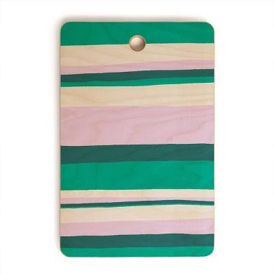 "17"" Wood Sunshine Canteen Hermosa Sunset Stripes Cutting Board - society6"