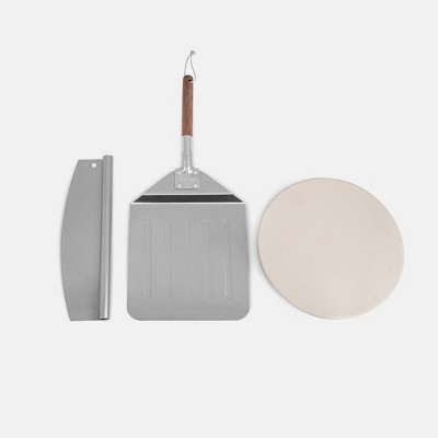 Stone Set with Pizza Peel and Pizza Cutter KSF1204- Royal Gourmet