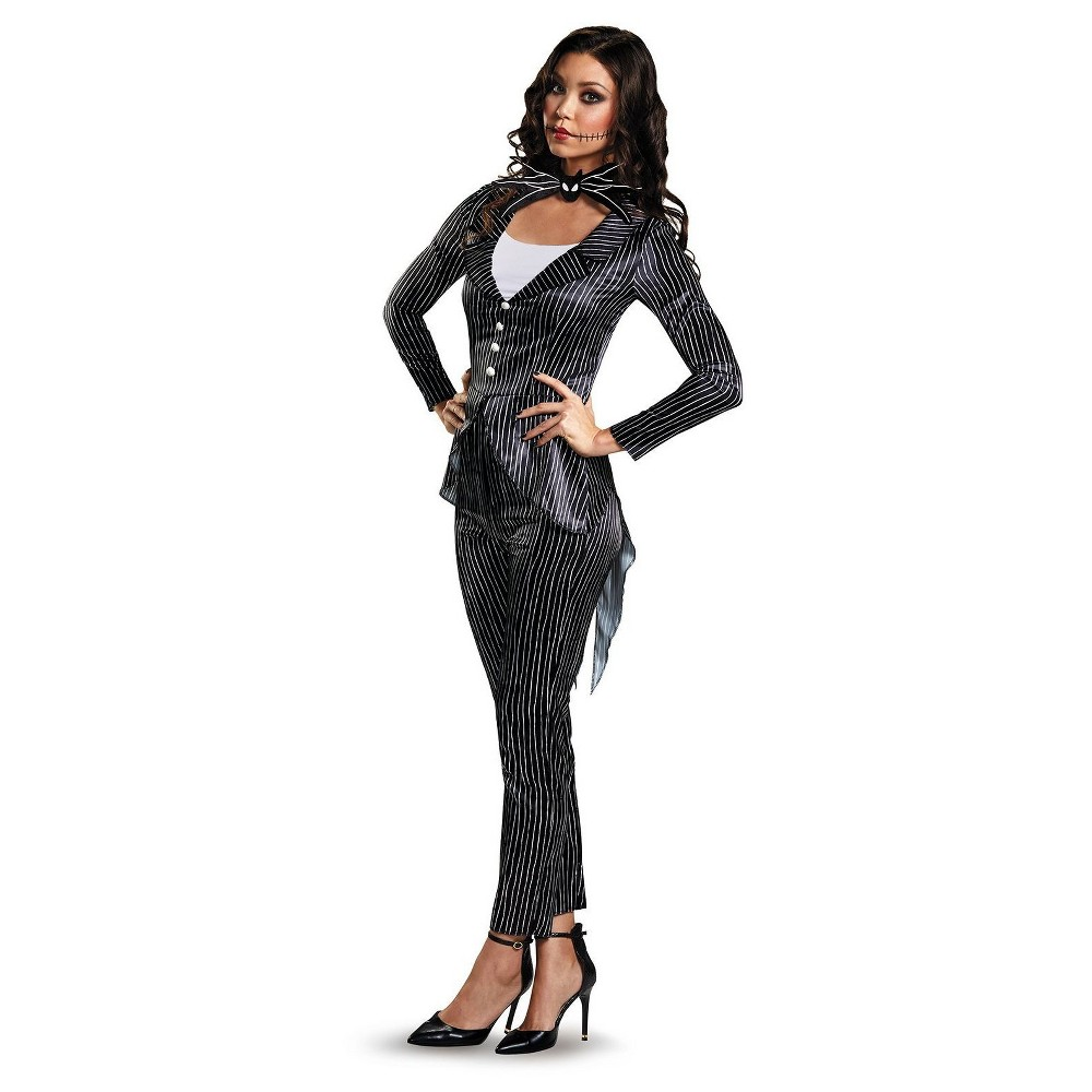 Women's The Nightmare Before Christmas Jack Skellington Deluxe Adult Costume Large, Multicolored